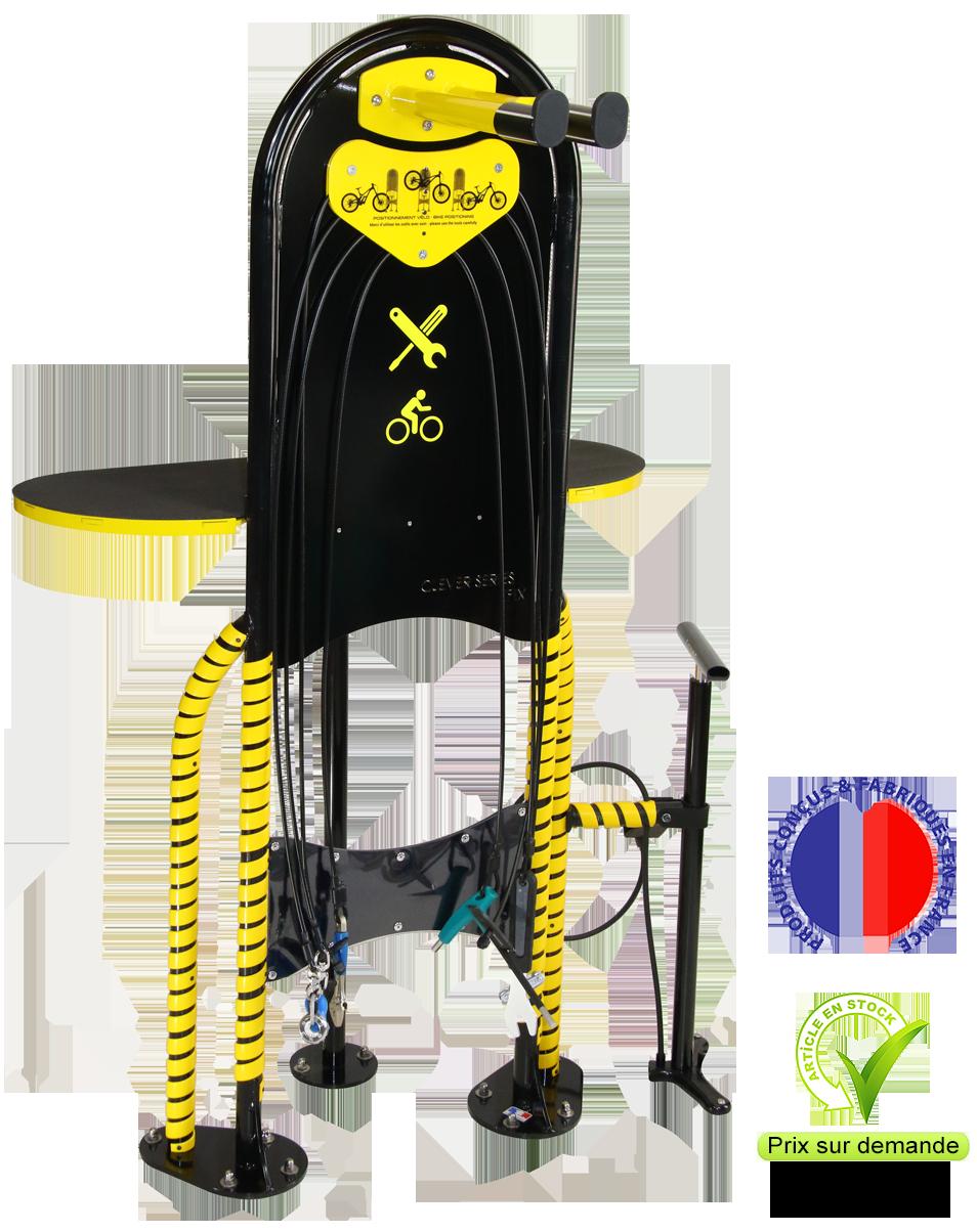 Clever Overall : une borne de réparation pour vélo trottinette ski et snowboard