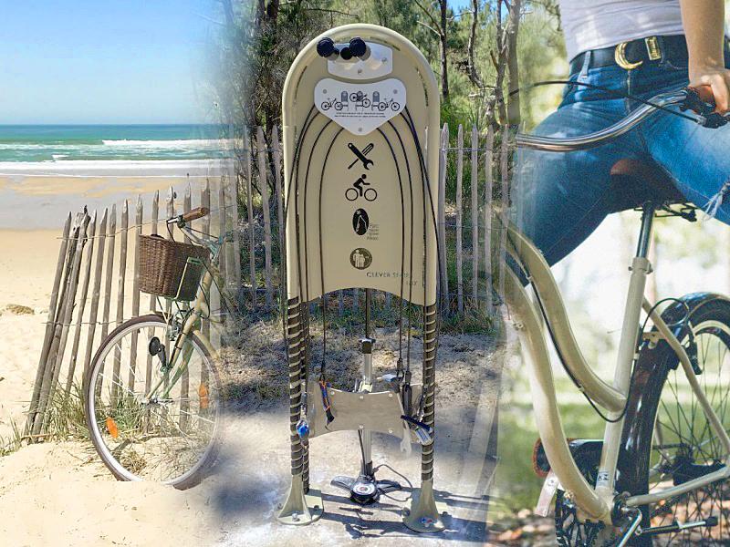 Notre station de réparation vélo CLEVER Ifix équipe le Parc Naturel Régional du Médoc.